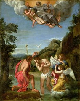 Francesco Albani's painting of the Baptism of Christ. Photo credit: wikipedia.org