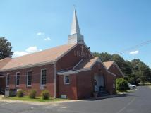 Current picture of Liberty UMC in Camden, Tennessee.