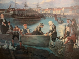 "John Wesley, sending Thomas Coke to America in 1784, saying, ""Offer them Christ!"" (Photo credit: https://www.flickr.com/photos/giveawayboy/5091781104)"