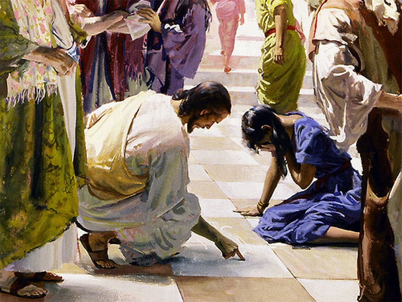 an examination of the account of the adulterous woman in the bible Turn to the book of proverbs here we are told the adulterous woman and the neighbor's wife whose morals that god has just not yet called them to account.